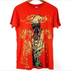 Ed Hardy Size Small Graphic T-shirt